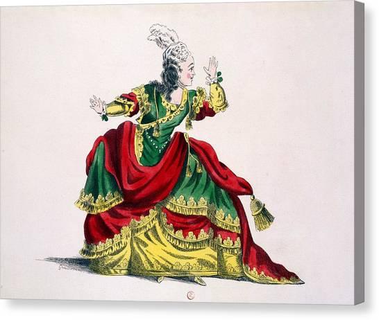 Baroque Canvas Print - Miss Sainval As Zenobie In Zenobie by French School