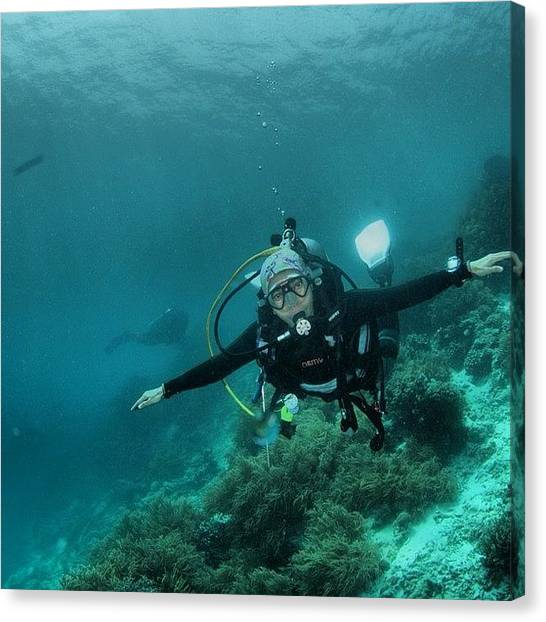 Scuba Diving Canvas Print - Miss Salt Water...:( #dive #scuba by Mieke Cb