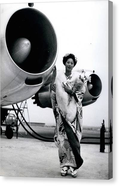 Miss Universe Opens Polar Route Of Air Franc Canvas Print by Retro Images Archive