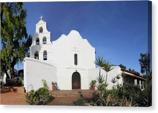 Mission San Diego Canvas Print - Mission Basilica San Diego De Alcala by Stephen Stookey