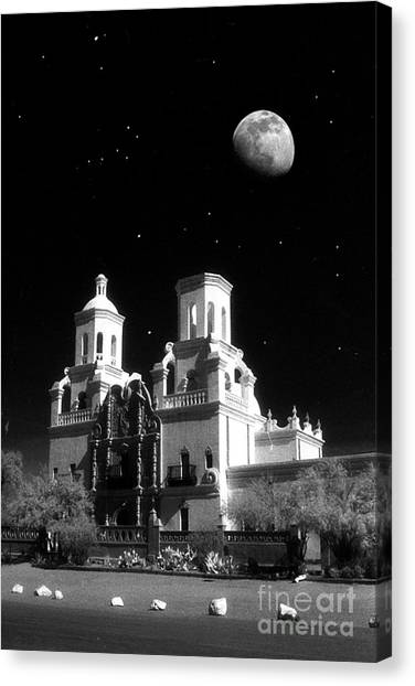Mission Del Bac Canvas Print by Robert Kleppin