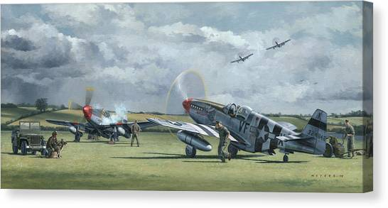 Ace Canvas Print - Mission From Debden by Wade Meyers