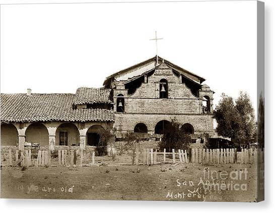 Mission San Antonio De Padua California Circa 1885 Canvas Print