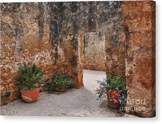 Mission San Jose At San Antonio Texas Canvas Print