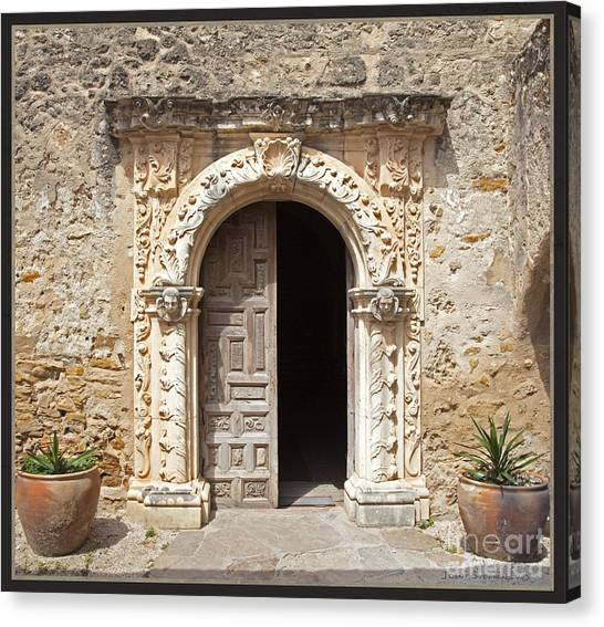 Mission San Jose Chapel Entry Doorway Canvas Print