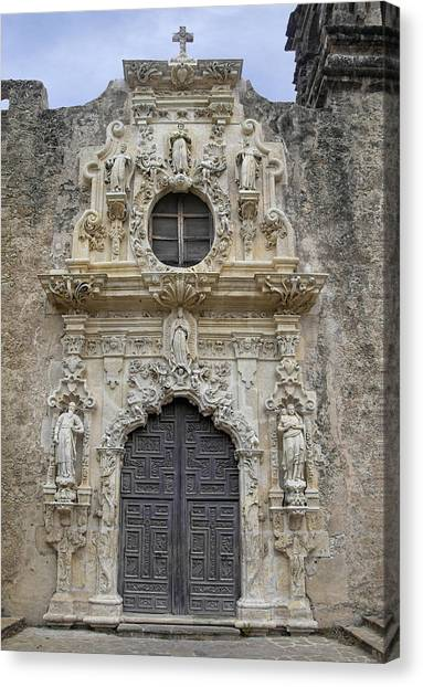 Mission San Jose Doorway Canvas Print