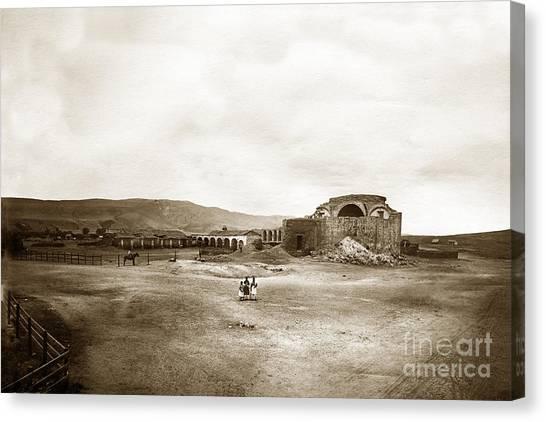 Mission San Juan Capistrano California Circa 1882 By C. E. Watkins Canvas Print