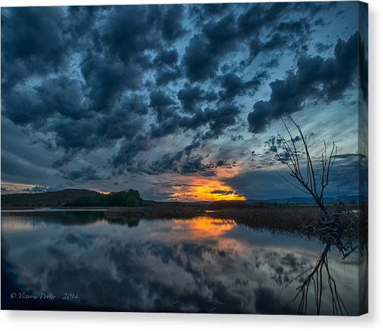 Mission Valley Sunset Canvas Print