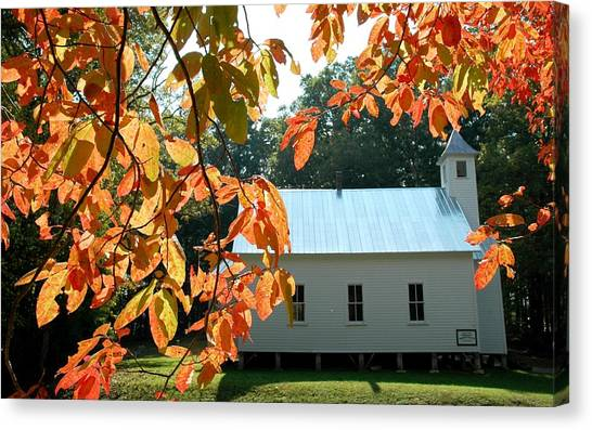 Missionary Baptist Church Autumn Afternoon Canvas Print by John Saunders