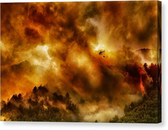 Bombs Canvas Print - Missione Impossibile... by Antonio Grambone
