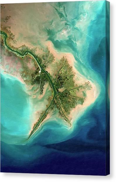 Mississippi River Canvas Print - Mississippi Delta by Planetobserver