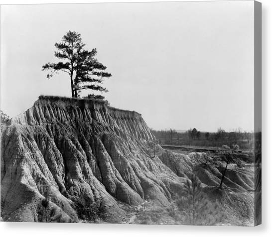 Mississippi Erosion, 1936 Canvas Print by Granger