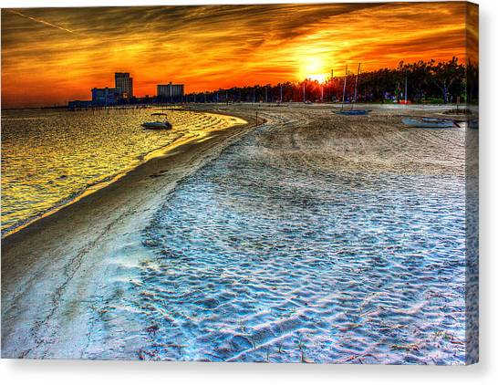 Beach - Coastal - Sunset - Mississippi Gold Canvas Print