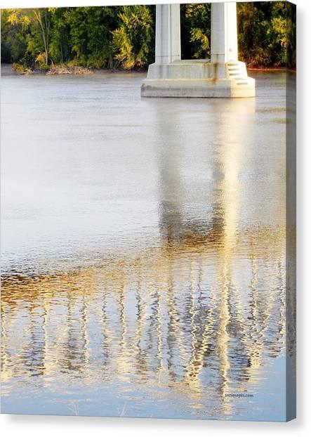 Mississippi Reflection Canvas Print
