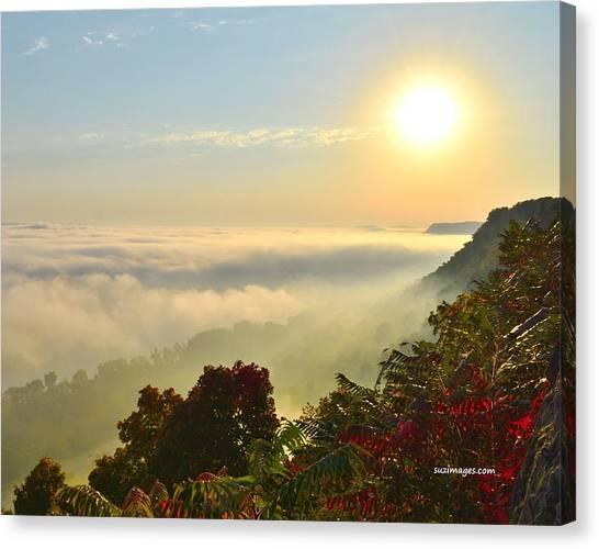 Mississippi River Fog Canvas Print