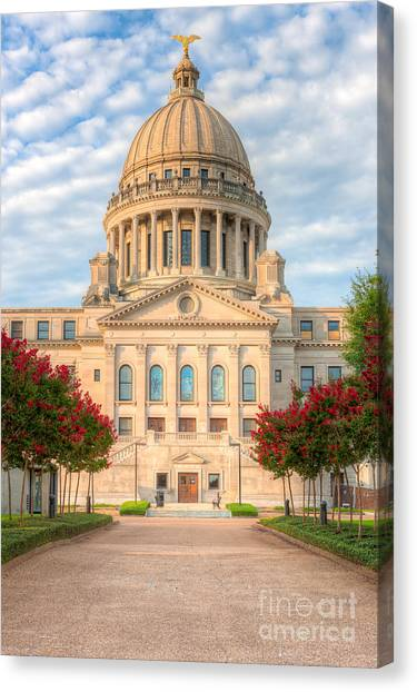 Mississippi State Capitol V Canvas Print