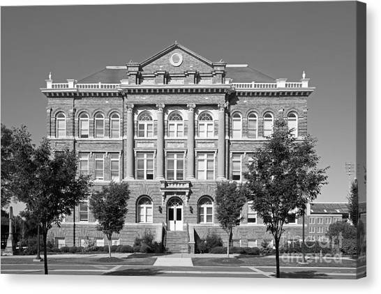 Mississippi State University Canvas Print - Mississippi State University Montgomery Hall by University Icons