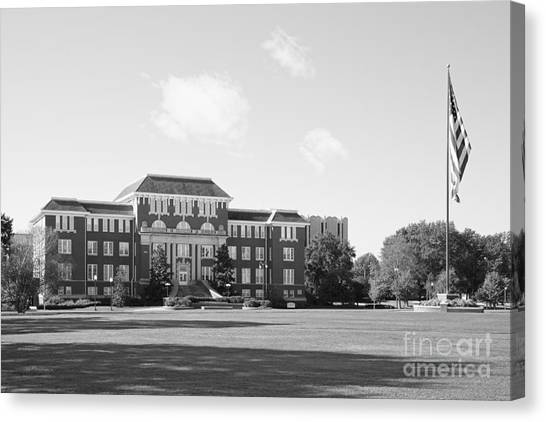 Mississippi State University Canvas Print - Mississippi State University Swalm Chemical Engineering  by University Icons