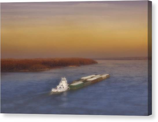 Mississippi Sunset Canvas Print