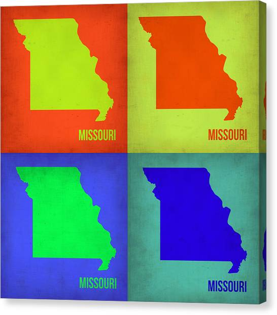 Missouri Canvas Print - Missouri Pop Art Map 1 by Naxart Studio