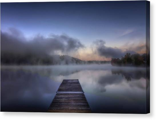 Mist At Lake Logan Canvas Print