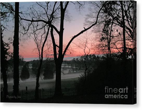Mist At Sunset Canvas Print by Jinx Farmer
