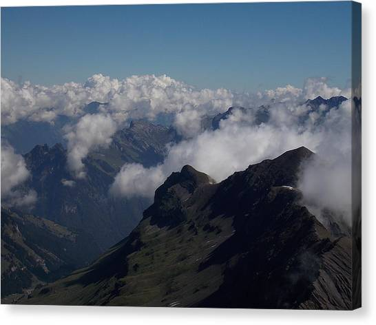 Mist From The Schilthorn Canvas Print