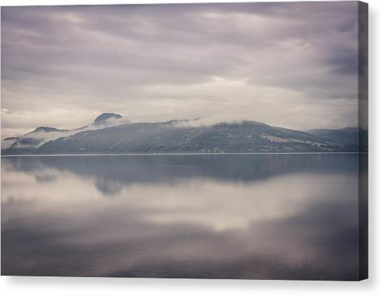 Cloud Forests Canvas Print - Mist On Loch Ness by Chris Dale