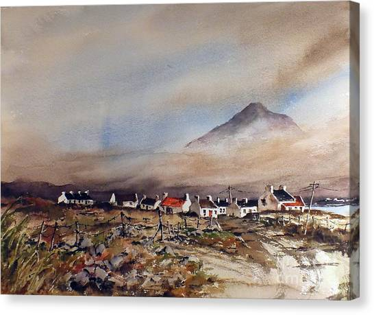 Mist Over Dugort Achill Island Mayo Canvas Print