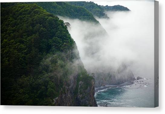 Mist Over Kitayamazaki Canvas Print