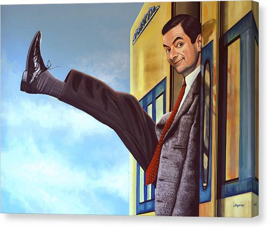 Witches Canvas Print - Mister Bean by Paul Meijering