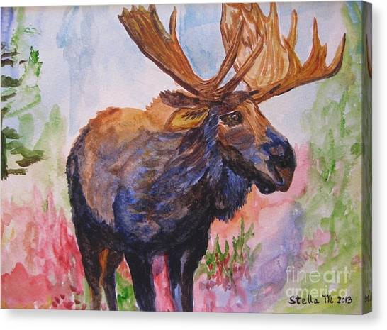 Mister Moose Canvas Print