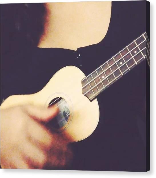 Ukuleles Canvas Print - Mister Sandman - The Chordettes #ukulele by Aklili Zack