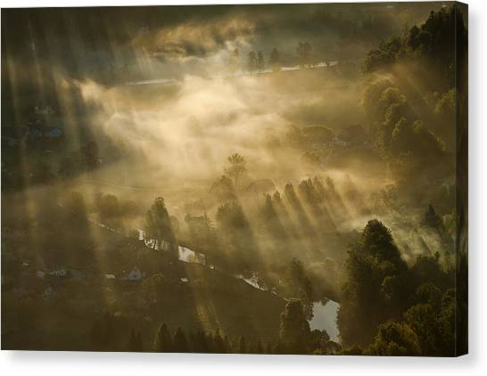Atmosphere Canvas Print - Mist,light And Silence. by Artistname
