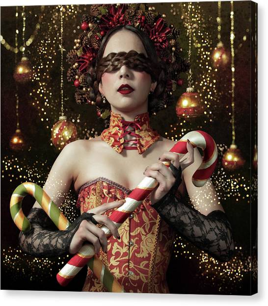 Wreath Canvas Print - Mistress Of The Bright Night by Kiyo Murakami