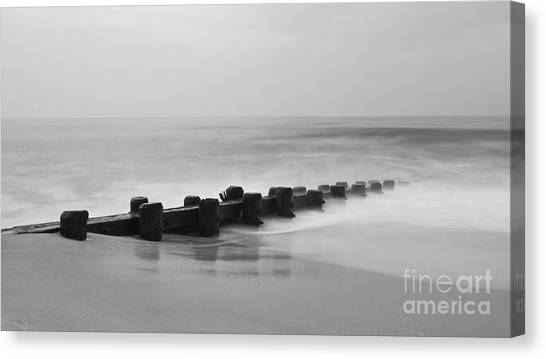 Misty Beach Morning Canvas Print
