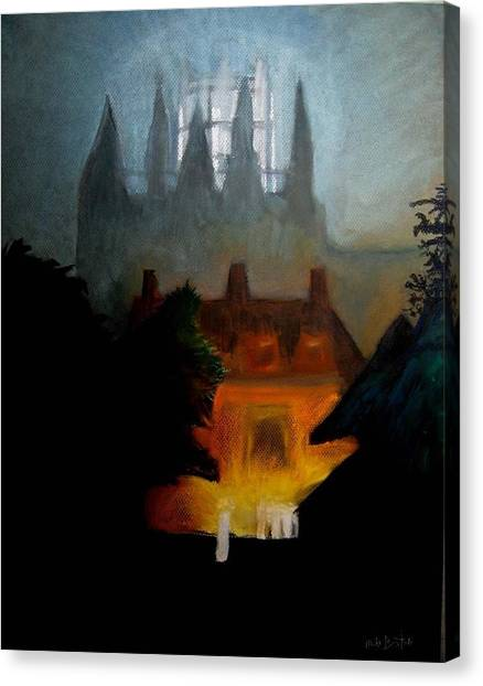 Misty Castle Canvas Print
