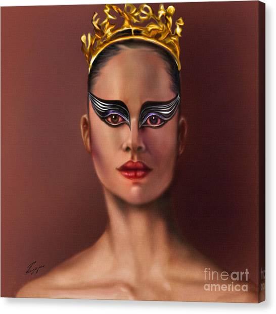 Misty Copeland  As The Black Swan Canvas Print