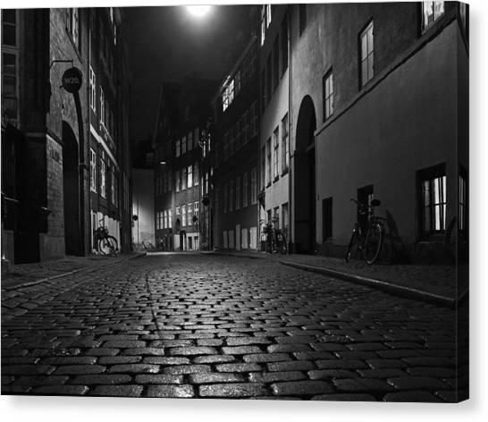 Misty Copenhagen Night Canvas Print