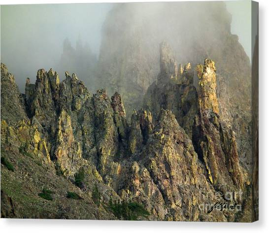 Misty Crags Canvas Print