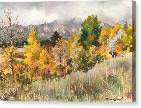 Colorado Canvas Print - Misty Fall Day by Anne Gifford
