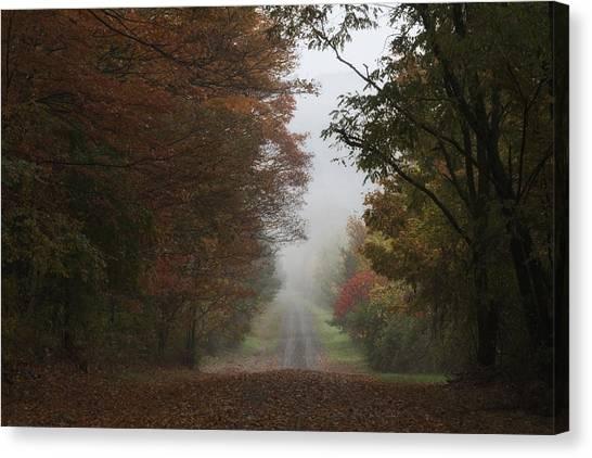 Misty Fall Morning Canvas Print