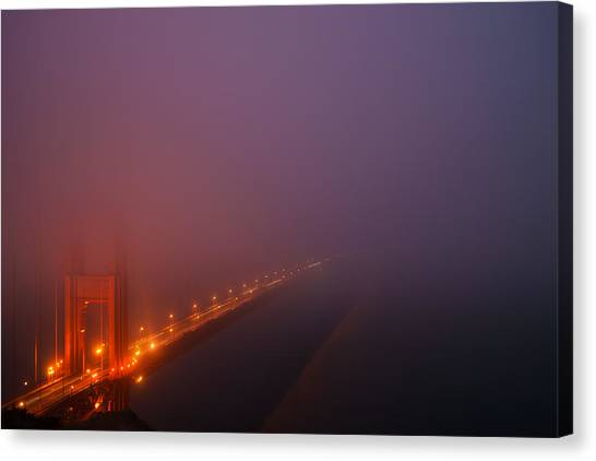 San Francisco - Misty Golden Gate  Canvas Print