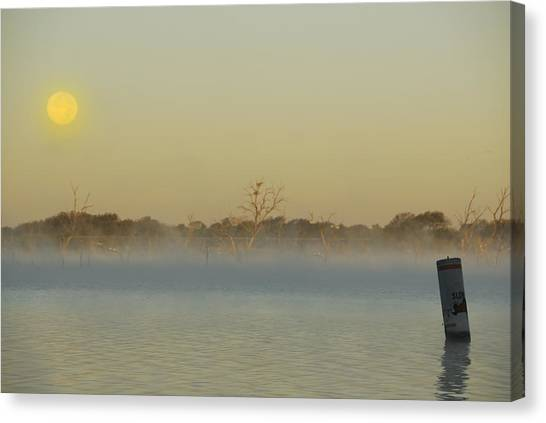 Misty Lake Canvas Print