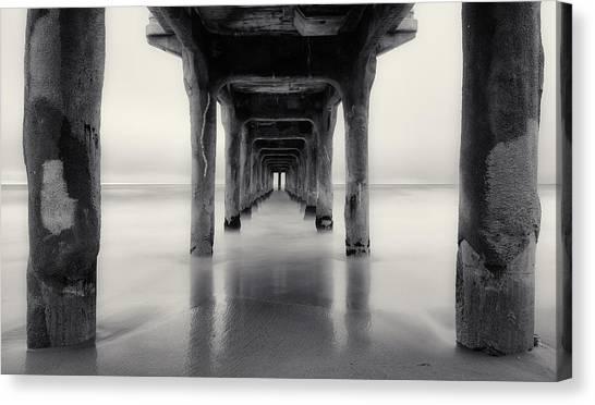 Misty Manhattan Pier Canvas Print