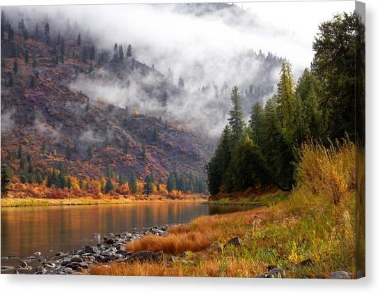 Misty Montana Morning Canvas Print