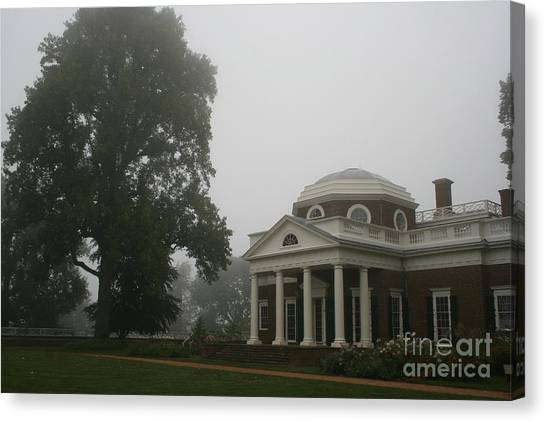 Canvas Print - Misty Morning At Monticello by Christiane Schulze Art And Photography