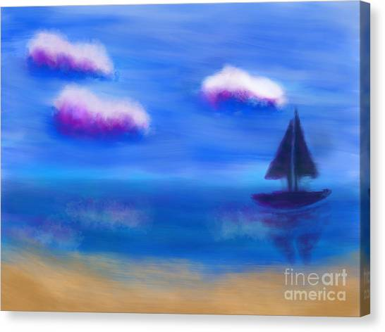 Misty Morning Beach Canvas Print
