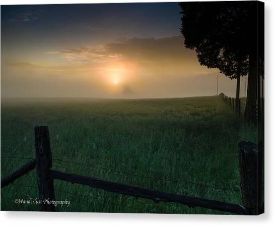 Misty Morning Hop Canvas Print by Paul Herrmann