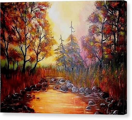 Misty Morning Marsh Canvas Print